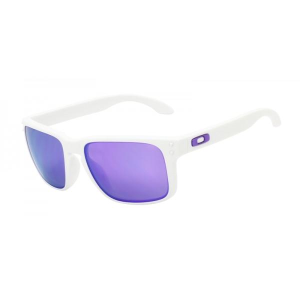 9d045c981f434 ... denmark oakley unisex holbrook white frame purple lens rectangular 55mm  e0f67 fb3c6 canada oakley oakley holbrook mix sunglasses violet iridium ...