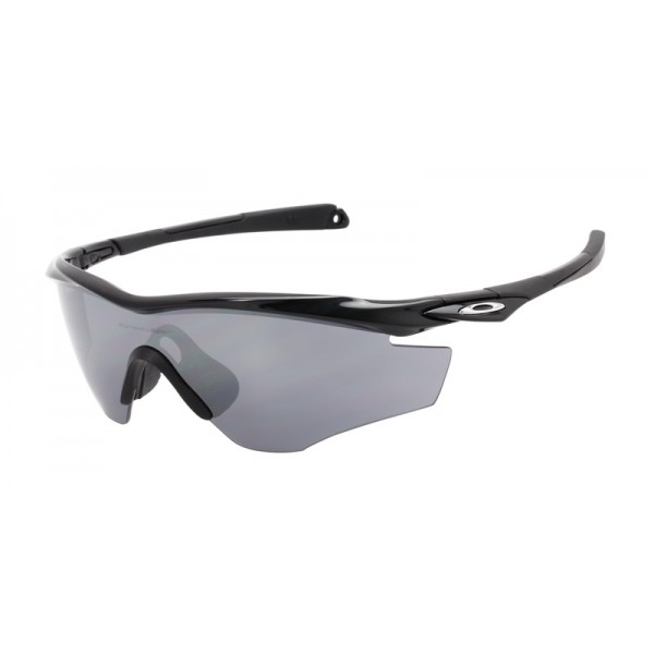 Oakley Men\'s M2 Frame Black Frame Gray Lens Shield Sunglasses - fake ...