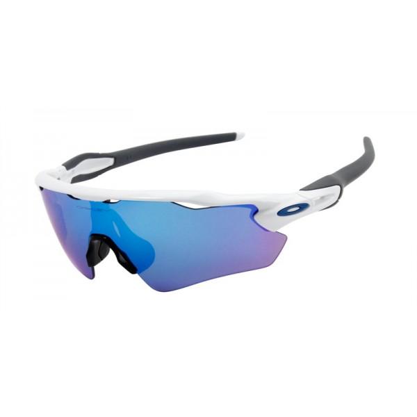 3b177f061b6 Oakley Men s Radar Ev White Frame Blue Lens Shield Sunglasses - fake ...