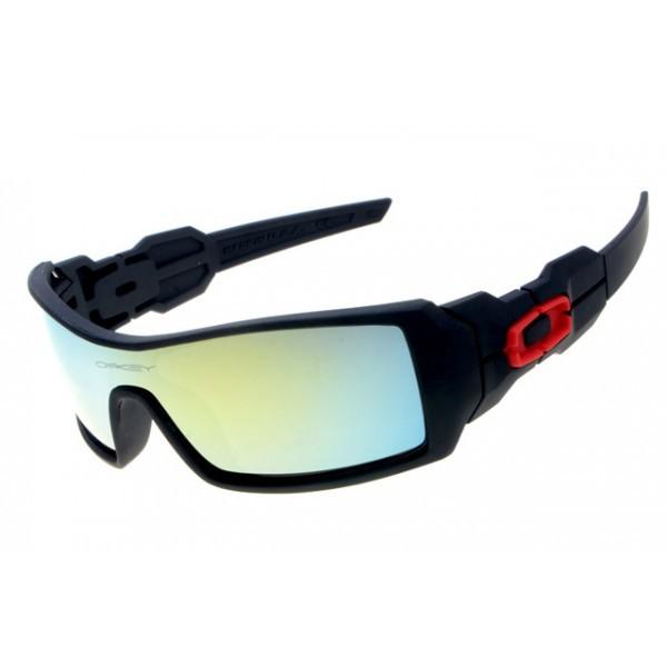741160fa27 fake Oakley Oil Rig sunglasses matte black   jade iridium