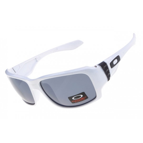 513dcfdc8c replica fake Oakley big taco sunglass white   gray lens