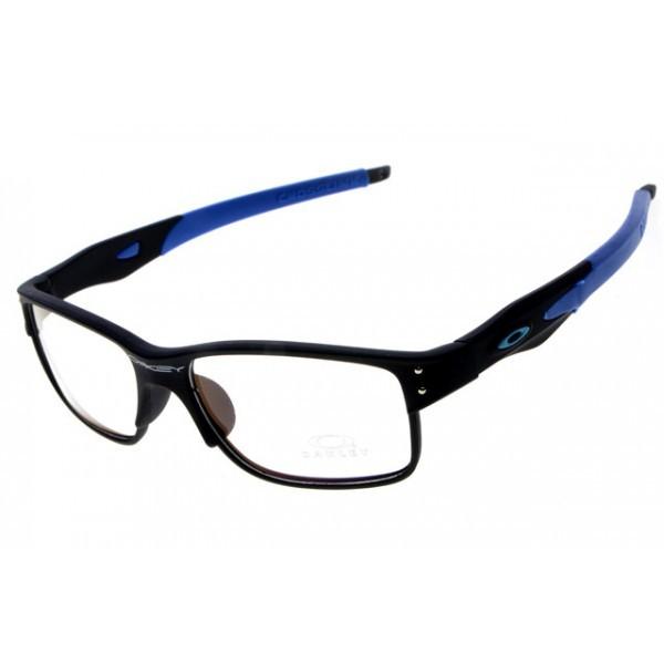 886a28effebe1 fake Oakleys Crosslink sunglass black blue   clear lens
