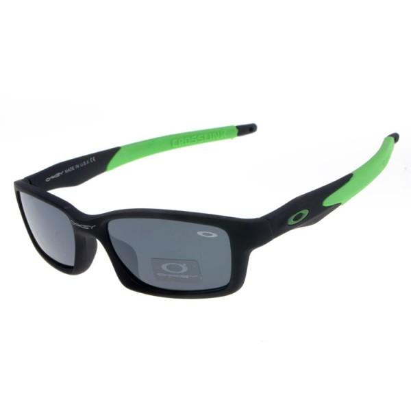 628c289d05d cheap fake Oakleys Crosslink sunglasses black green   gray lens ...