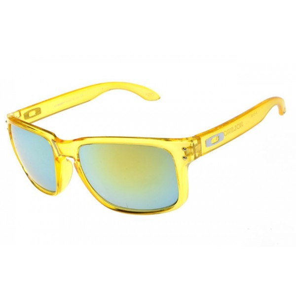 7c93498316 fake Oakley Holbrook sunglasses clear yellow   emerald iridium for ...